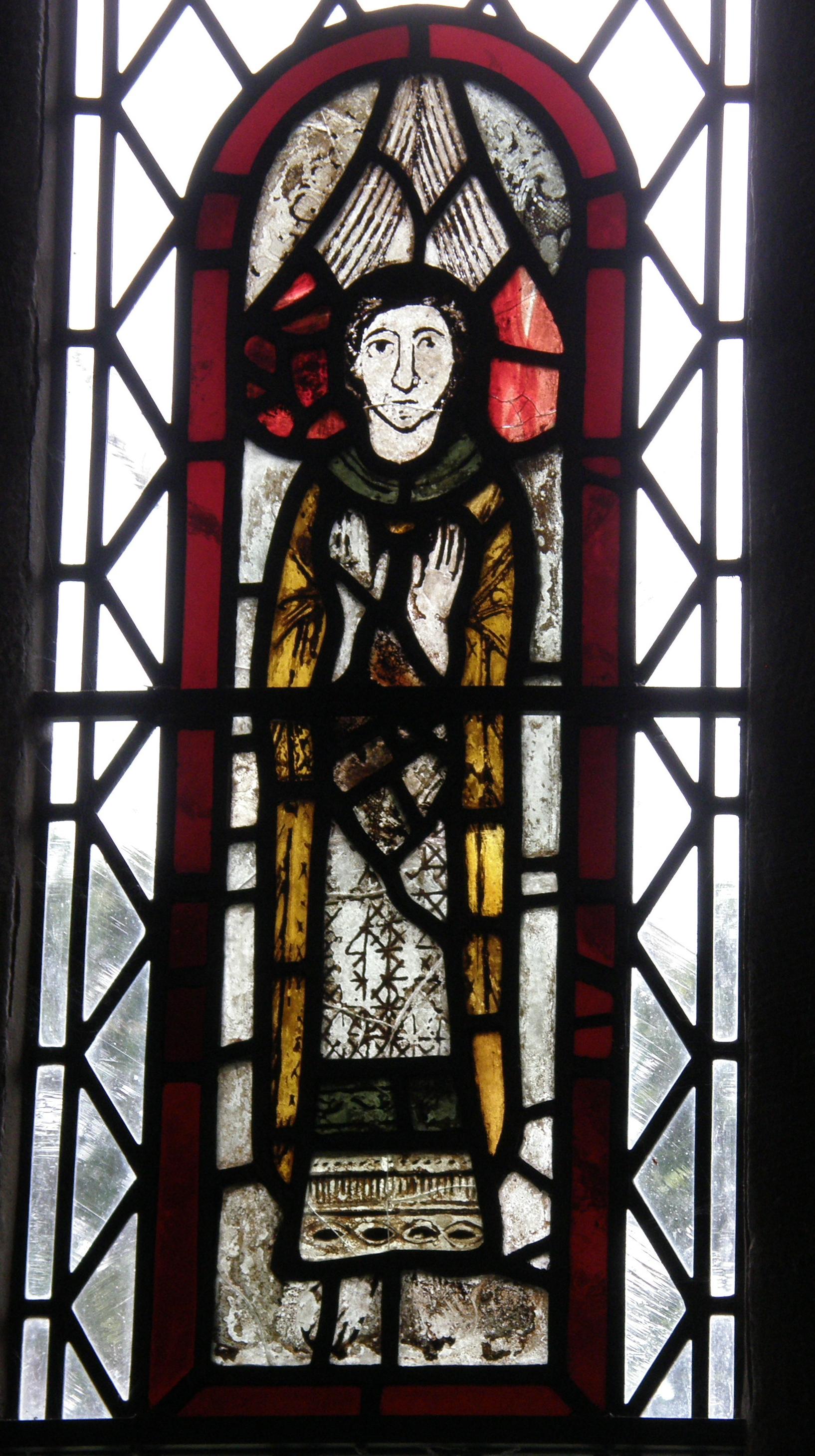 St. Michael Window, All Saints, Dalbury, Derbyshire, UK