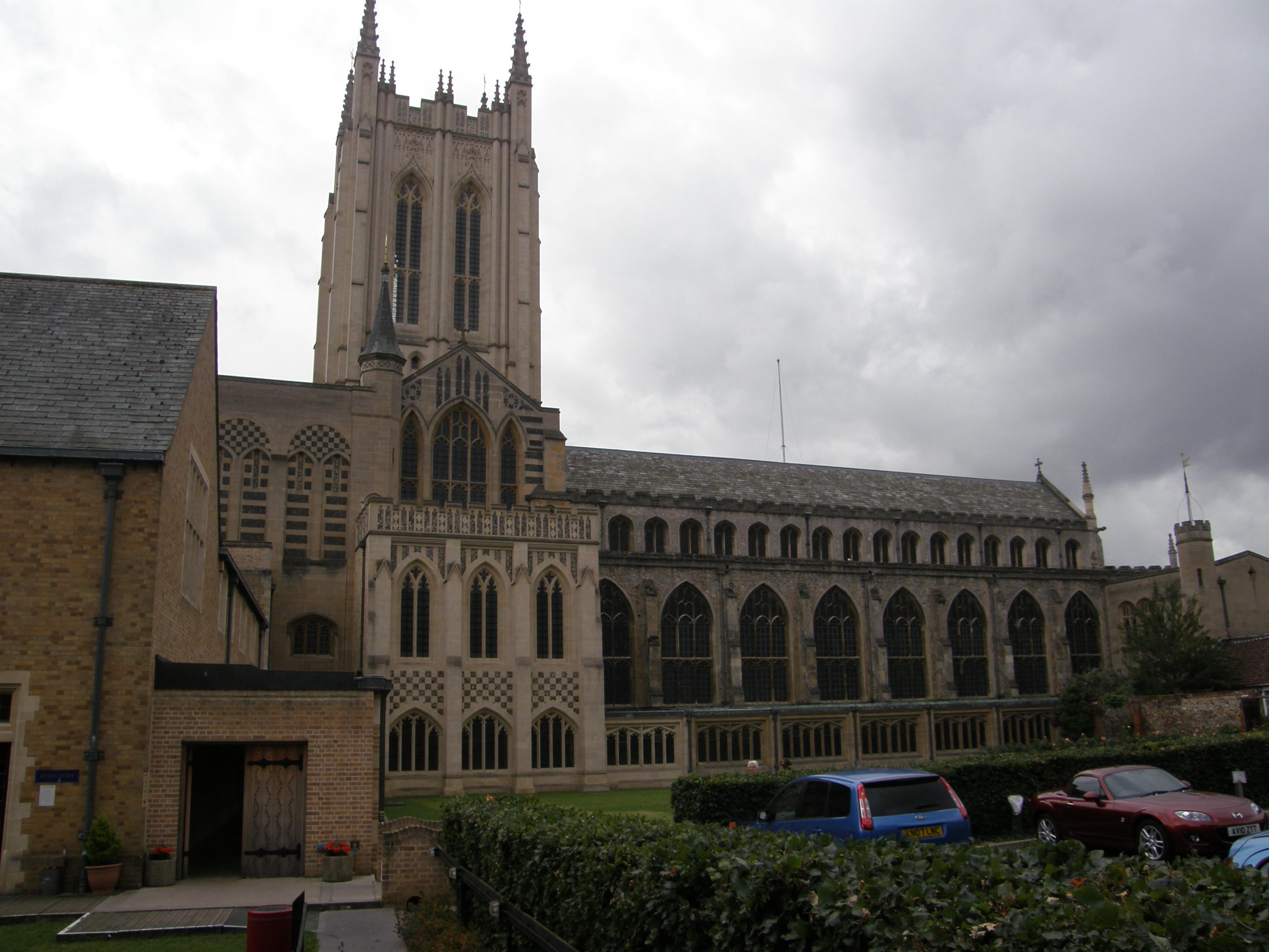 St. Edmundsbury Cathedral seen from the Abbey Garden gate
