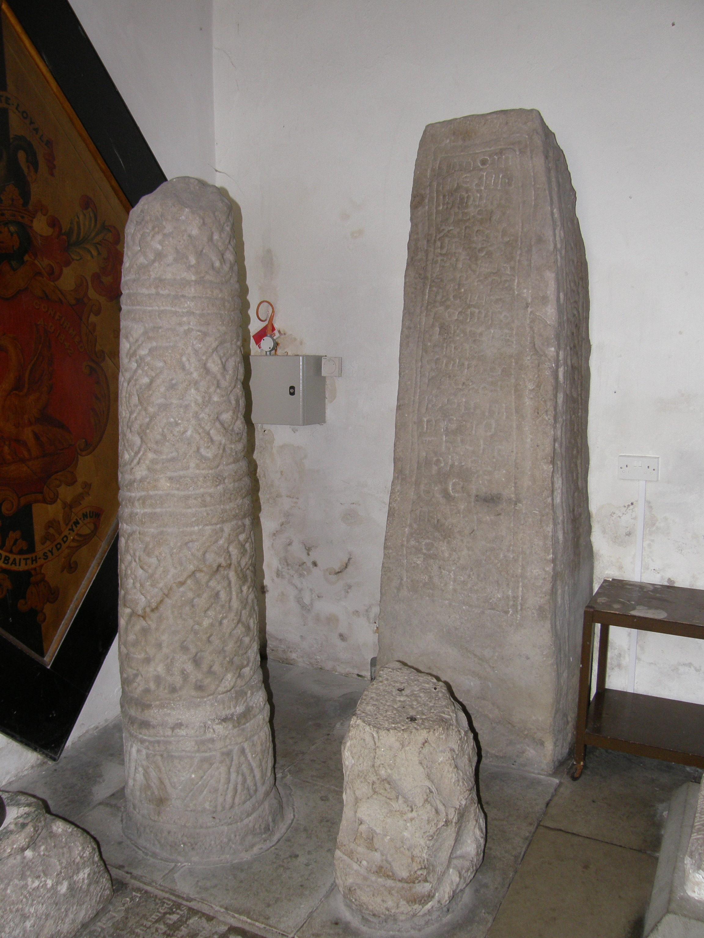 St. Illtuds, Celtic carved stones