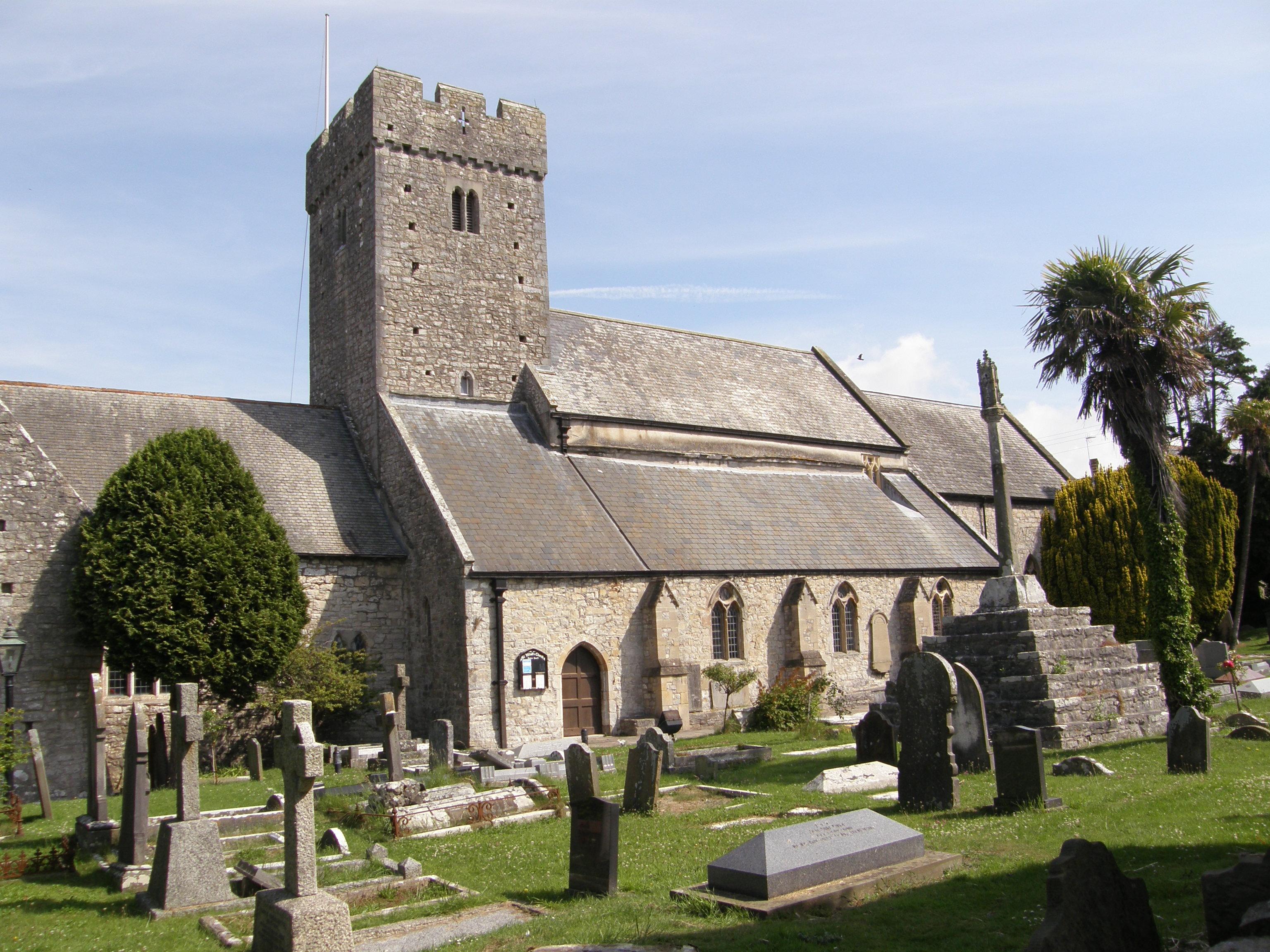St. Illtuds Church, Llantwit Major, from church yard