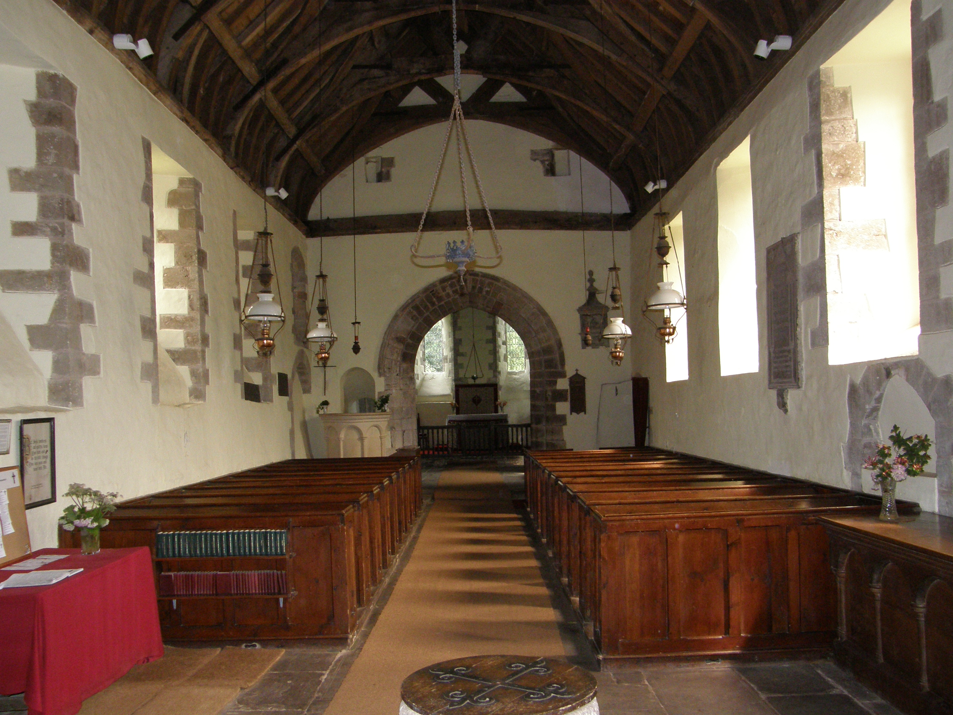 Interior of St Davids Parish Church, Llanthony, Wales