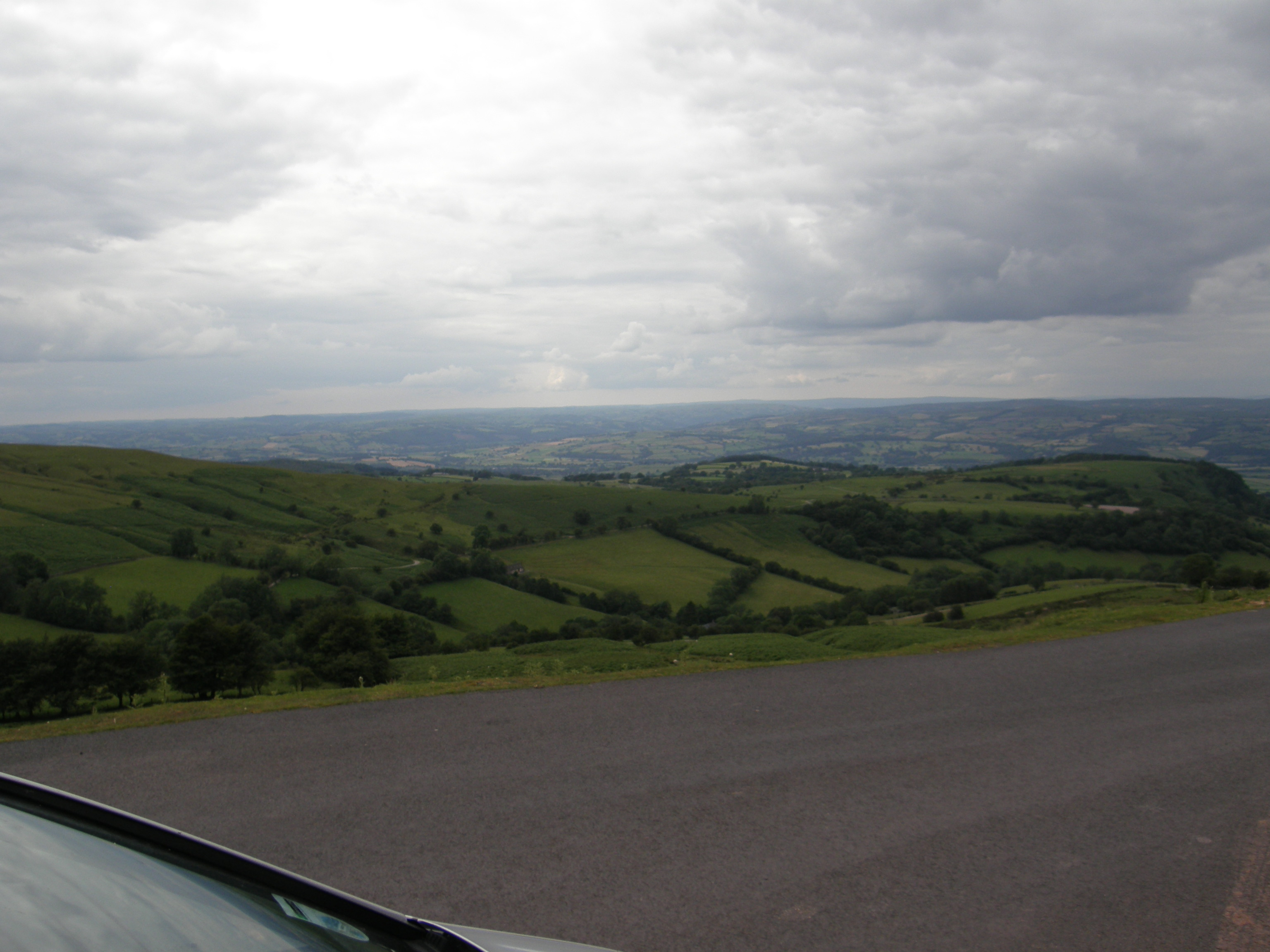 Wye Valley from Black Mountains summit, Hay-Llanthony Road