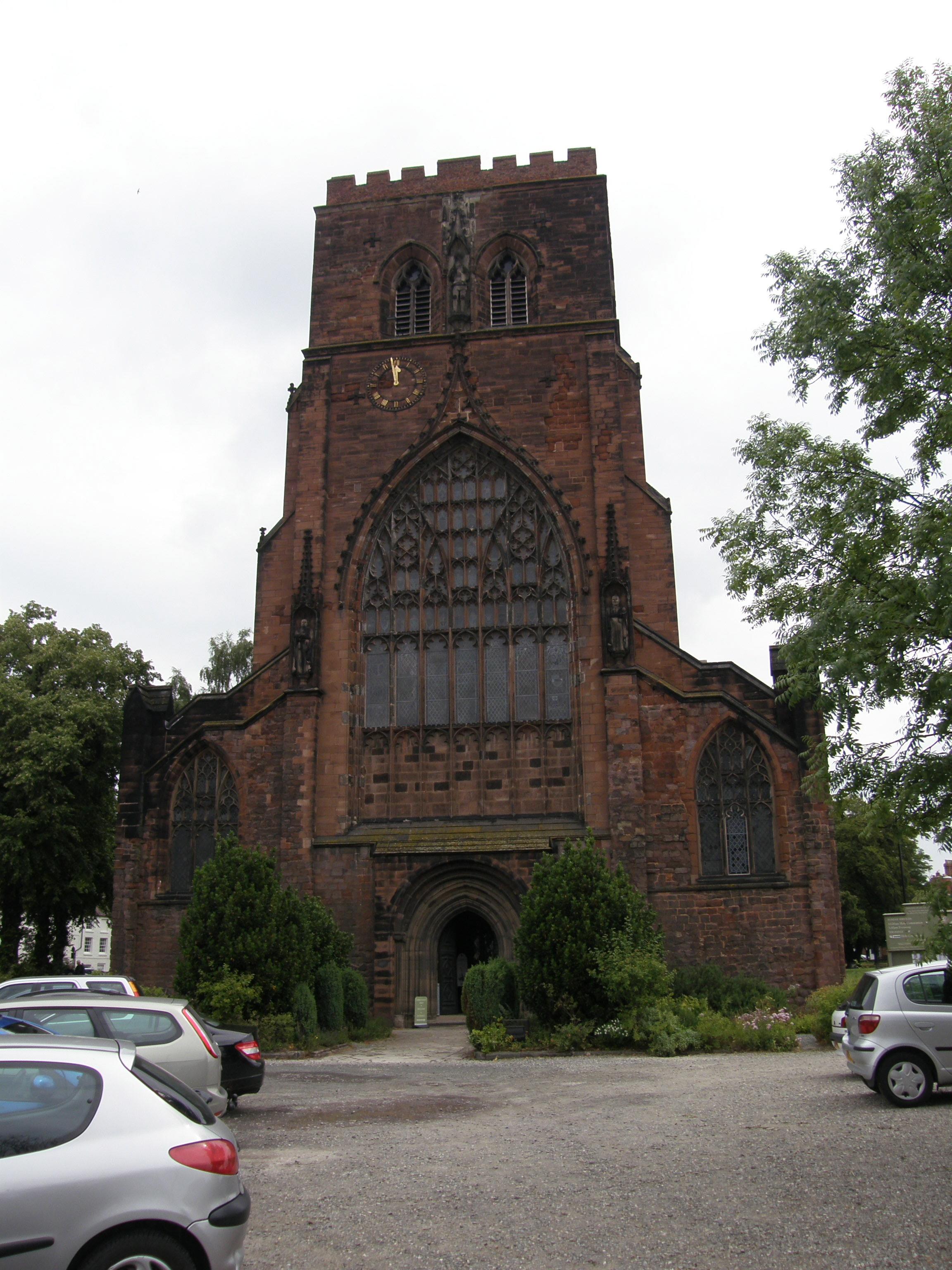 Facade of Shrewsbury Abbey Church
