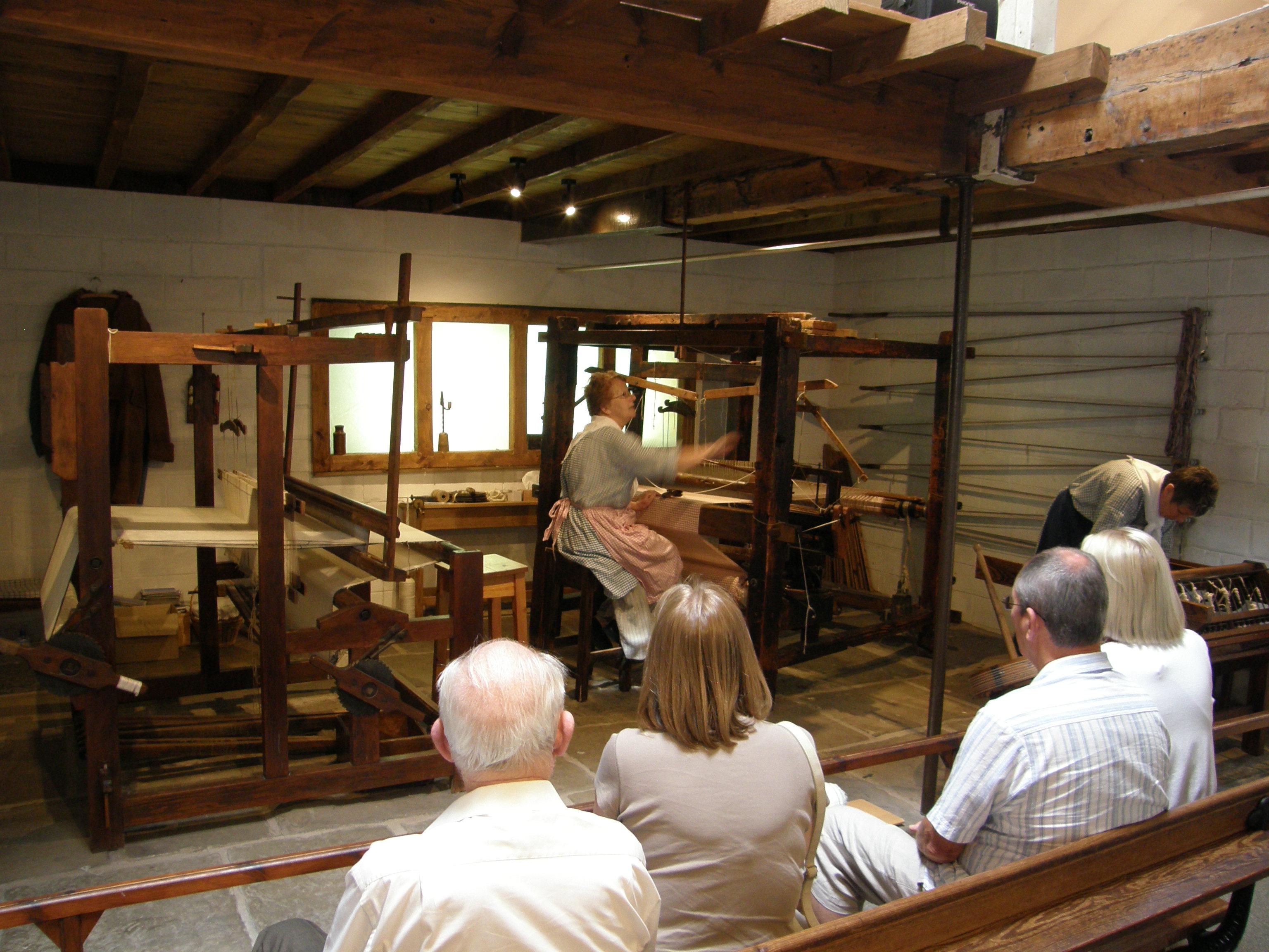 Loom exhibit, Quarry Bank Mill, Wilmslow, UK