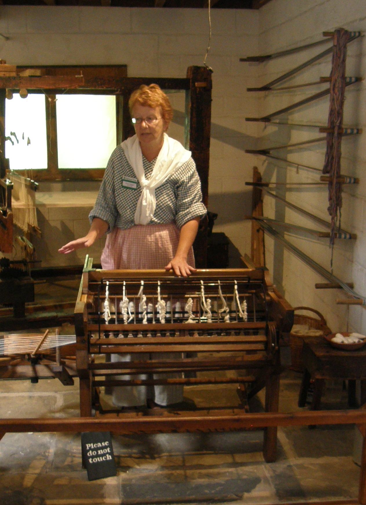 Spinning jenny exhibit, Quarry Bank Mill, Wilmslow, UK