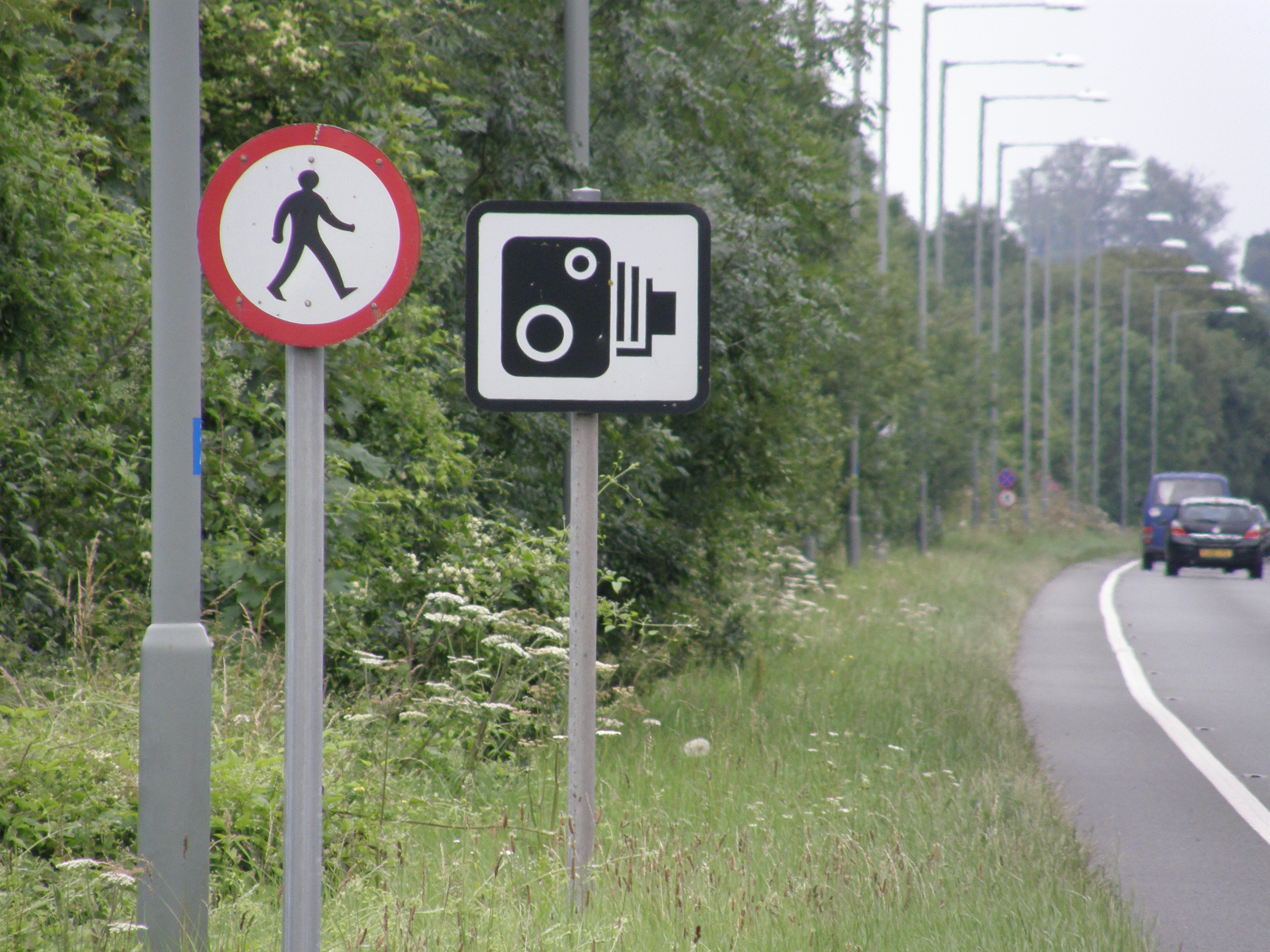 Camera Sign together with Pedestrian Sign