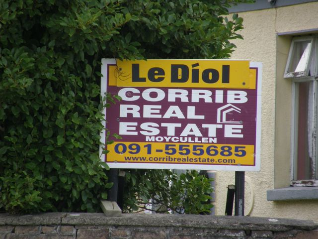 """Irish Real Estate """"For Sale"""" Sign"""