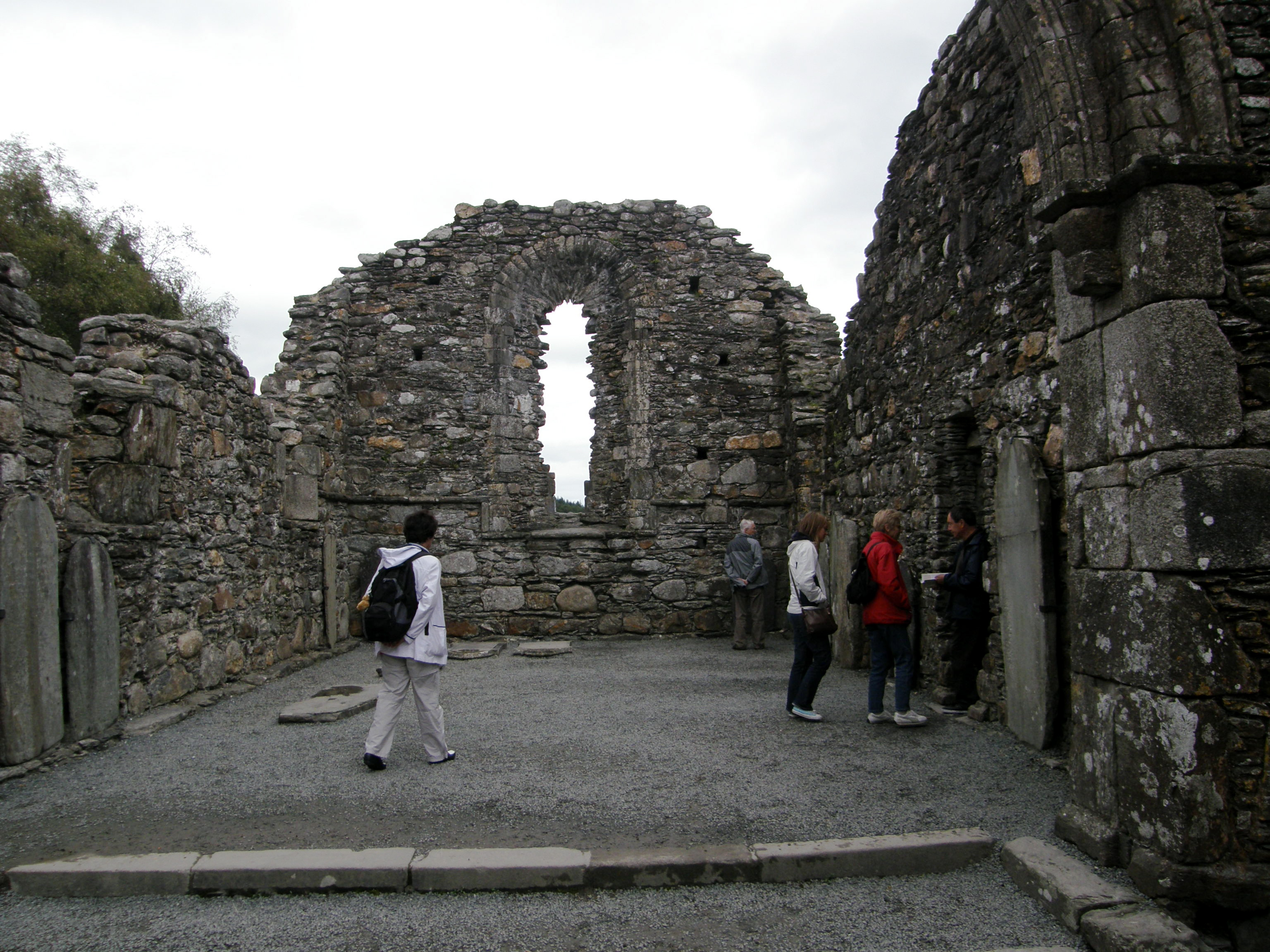 Interior of the Glendalough Cathedral