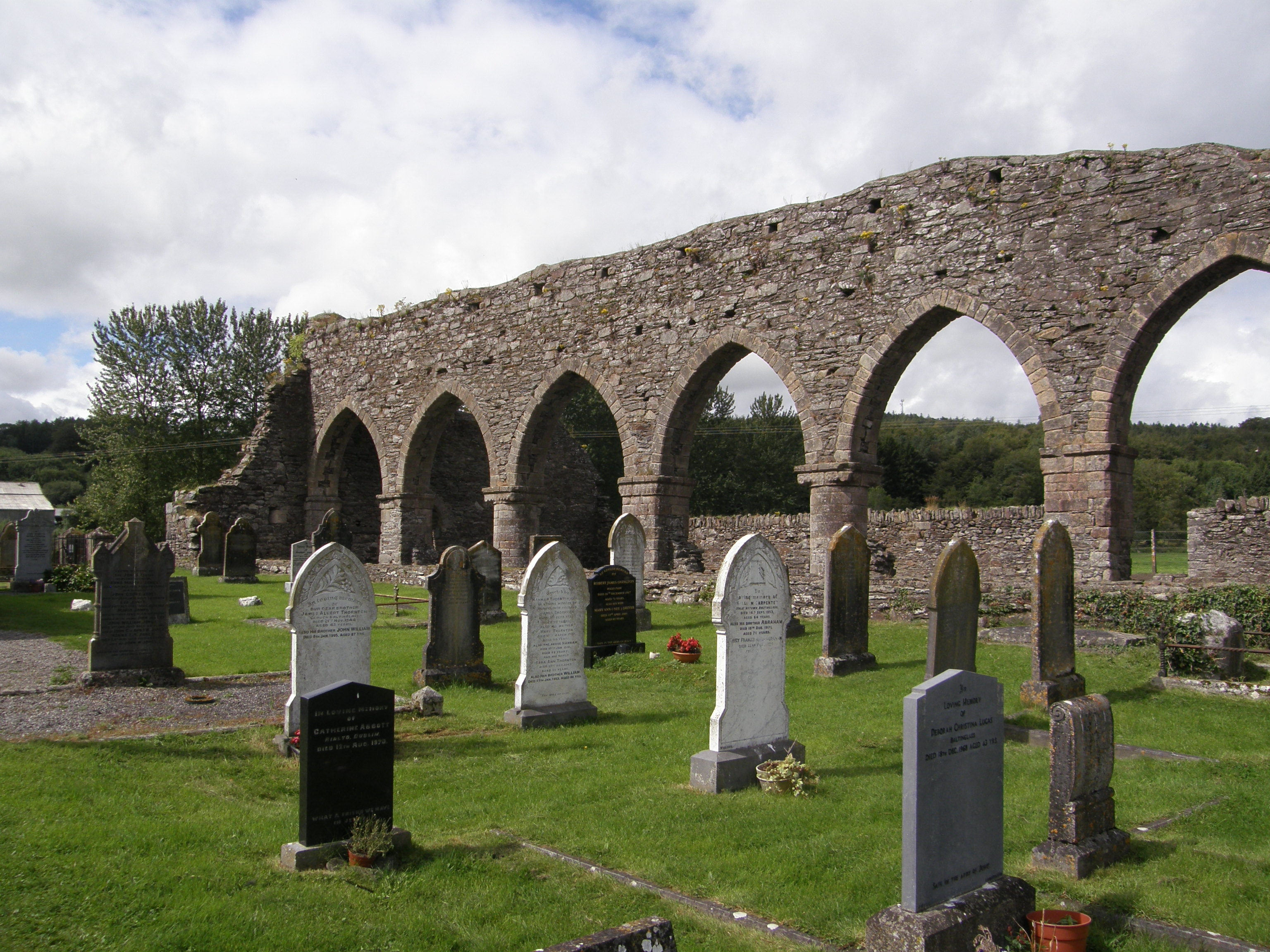 Nave Arches at Baltinglass, Note the Alternating Cylindrical & Square Piers
