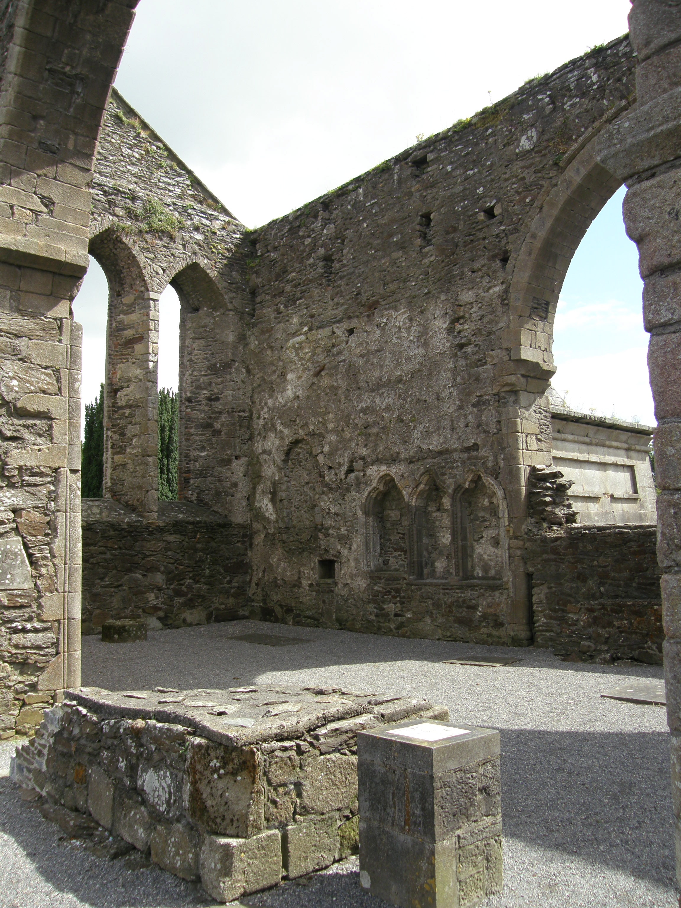 The Sedilia (Inset Clergy Seating) at Baltinglass Abbey