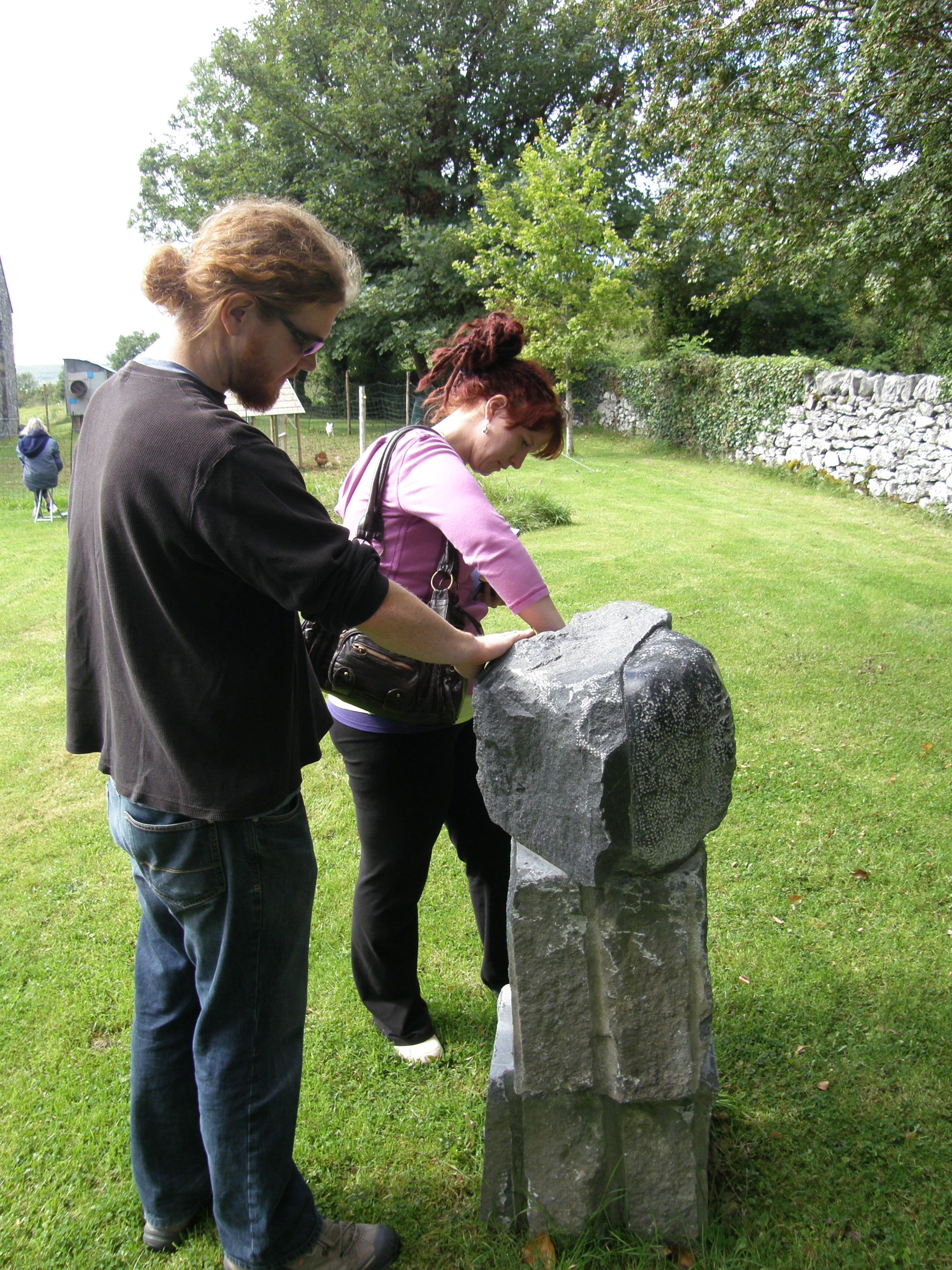 Caitlin and Jeff at Burren College of the Arts