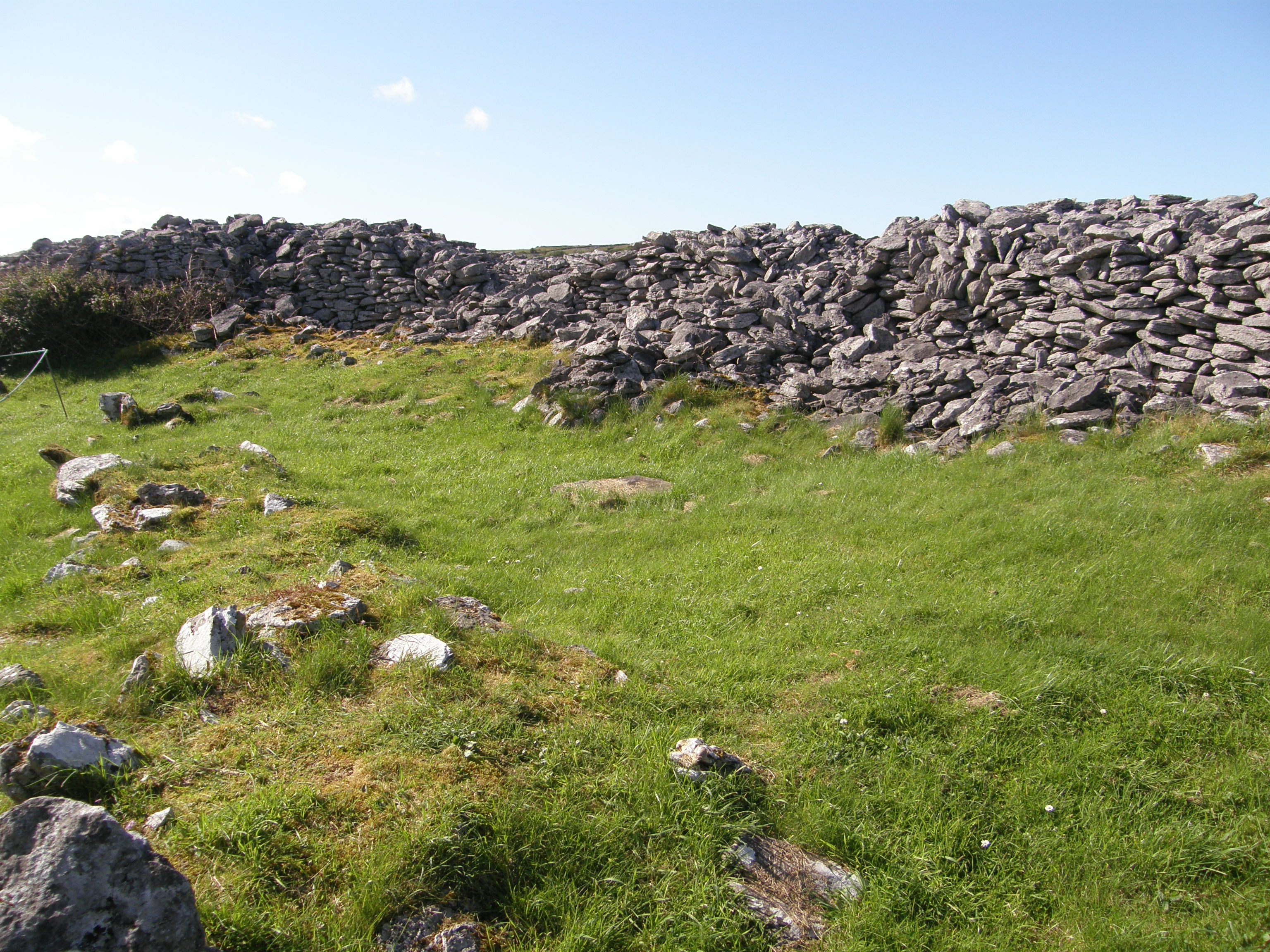 Interior of the Caherconnell Ring Fort with Remains of Dividing Wall
