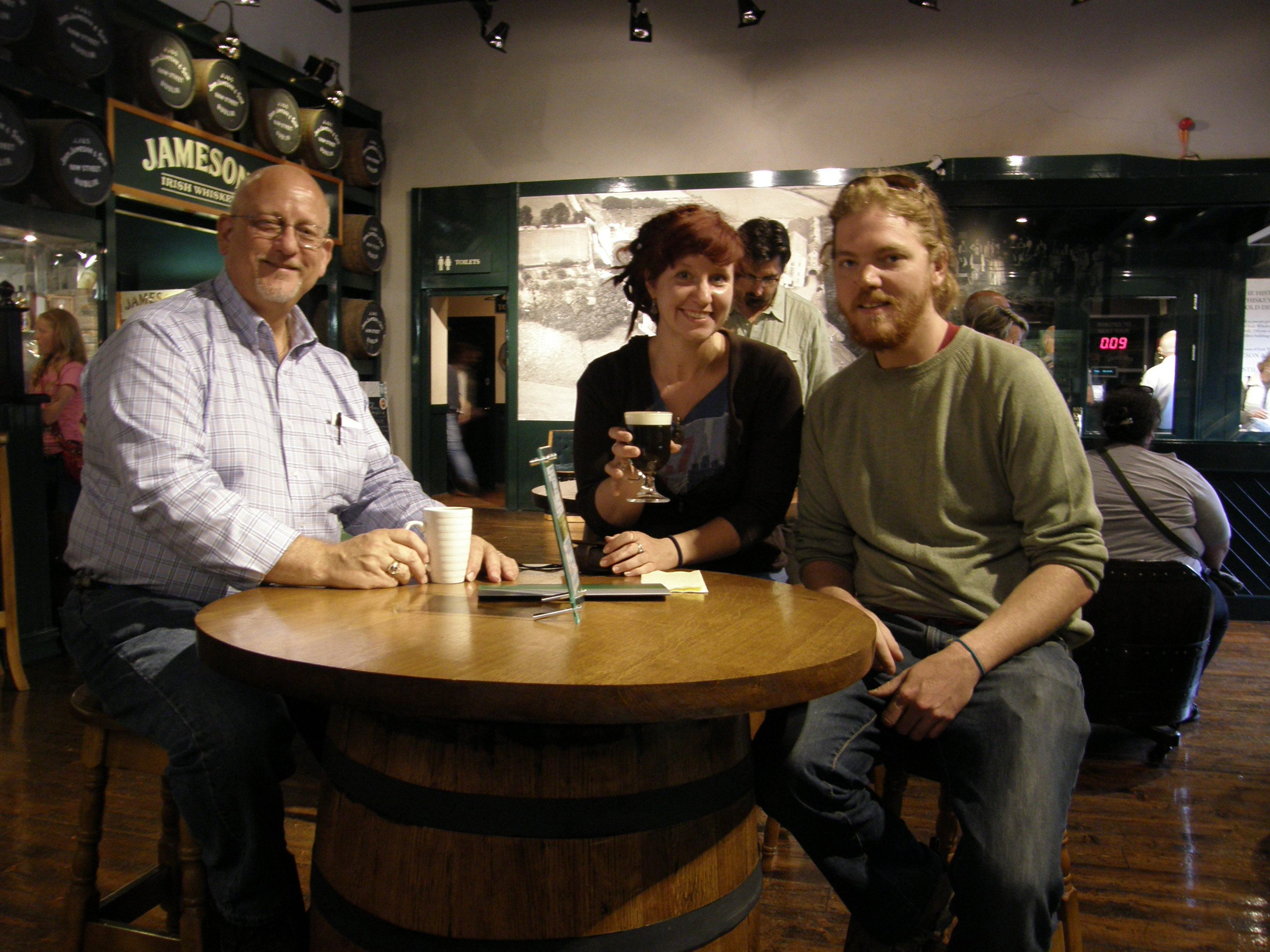 The Three of Us at the Jameson's Distillery