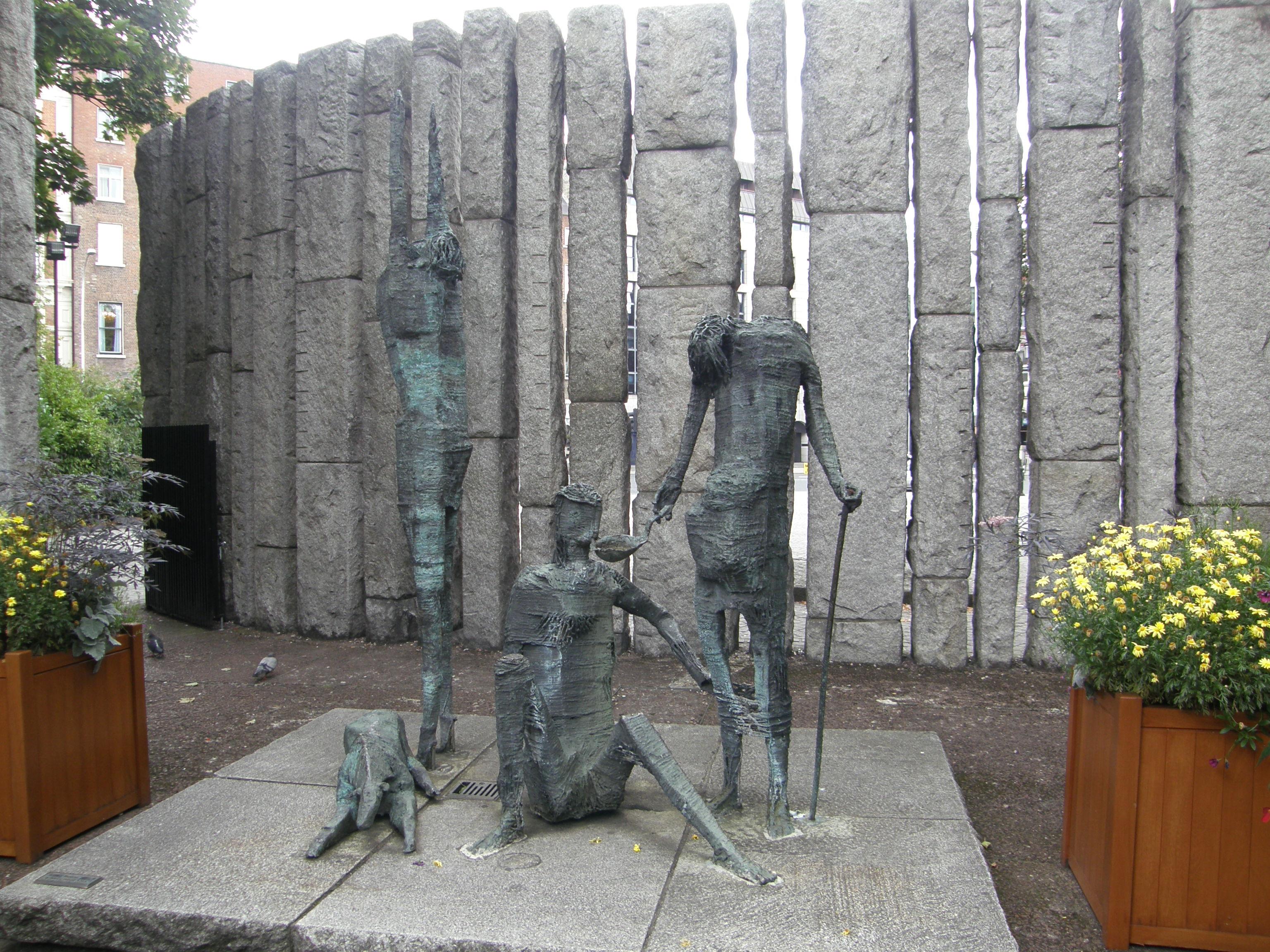National Famine Memorial Monument in St. Stephen's Green