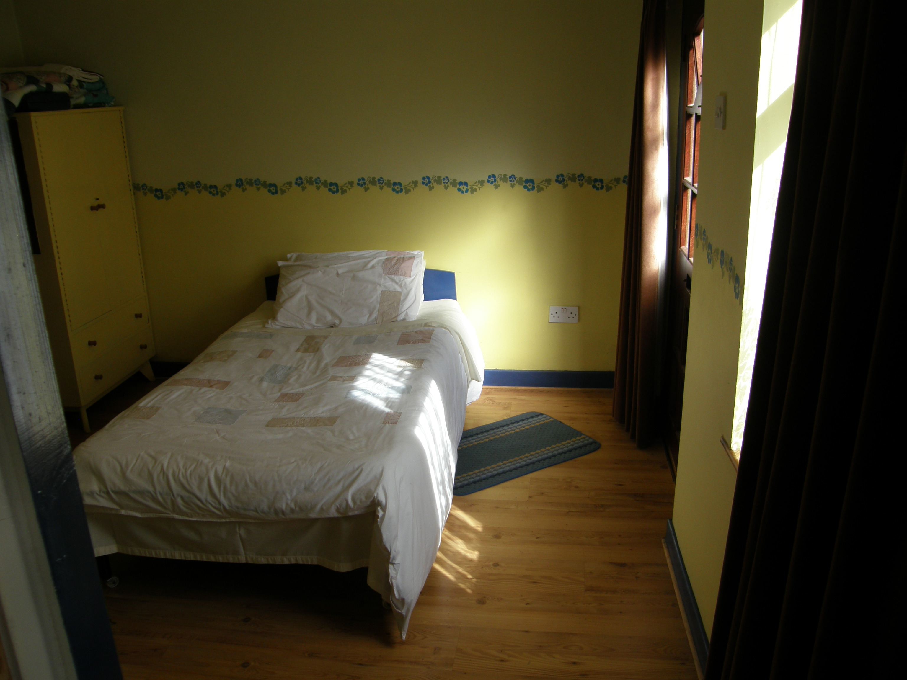 The modern bedroom added in 2007