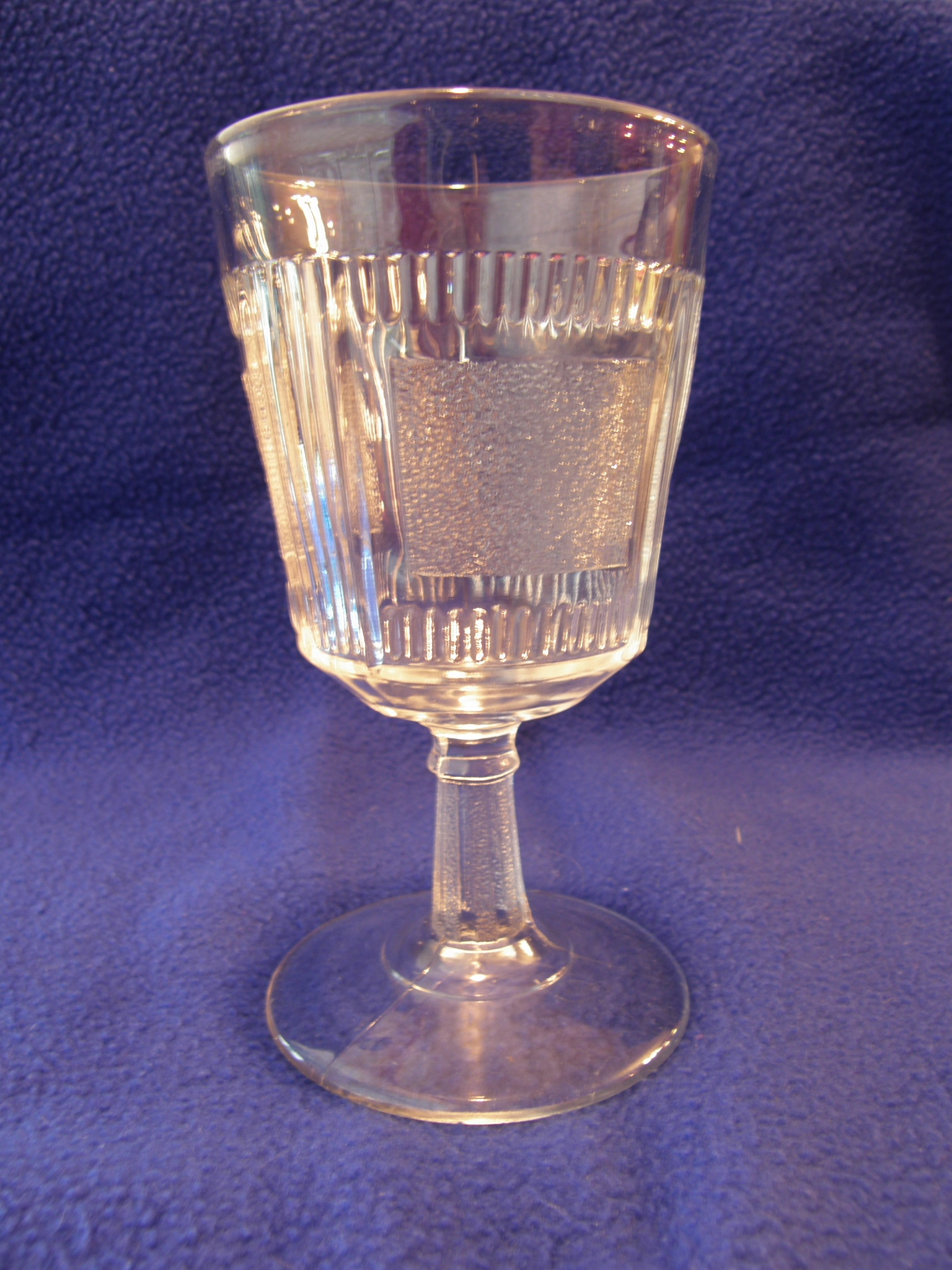 """Clear Goblet in Bryce's Derby or """"Pleat & Panel"""" Pattern"""