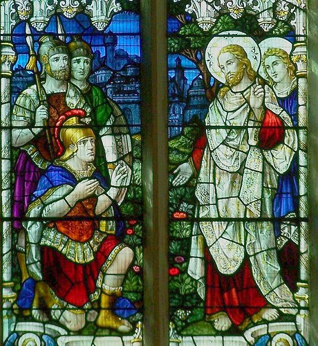 Stained Glass Window of Jesus and the Centurion