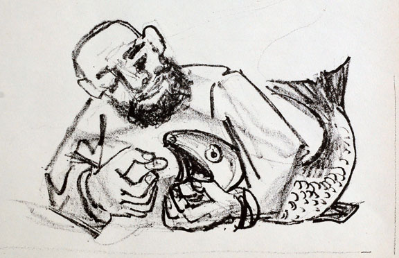 """""""Coin in the Mouth of the Fish"""" by German expressionist Otto Dix"""