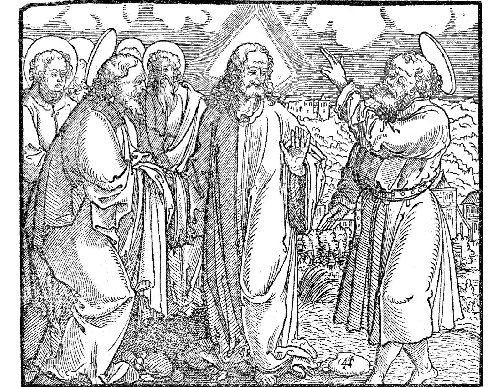 Confession of Peter, woodcut from Martin Luther, Kercken Postilla