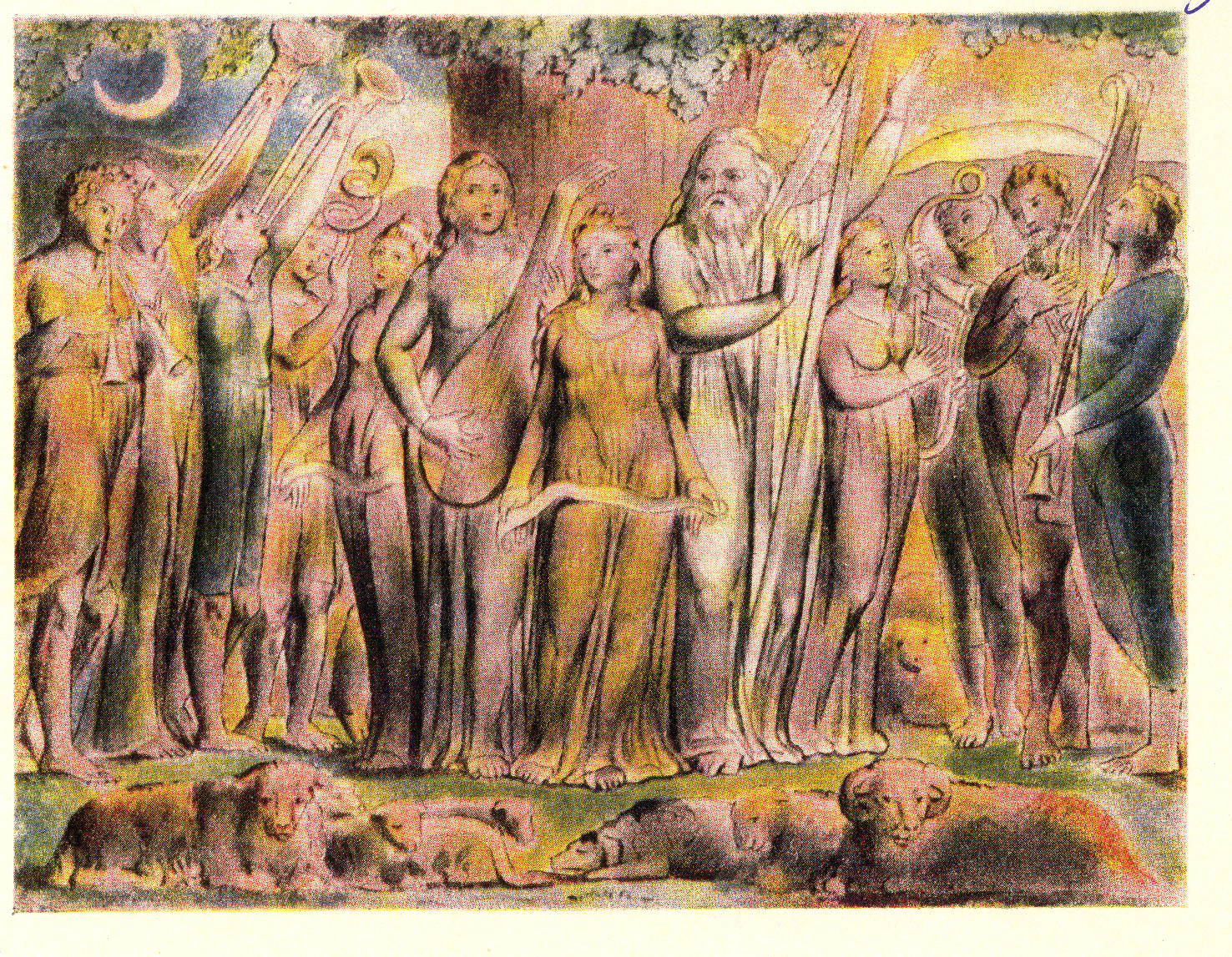 """""""So the Lord blessed the latter end of Job more than the beginning"""" by William Blake"""