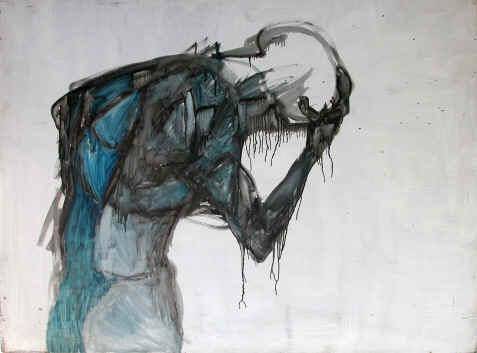 Grief (watercolor wash, artist unknown)