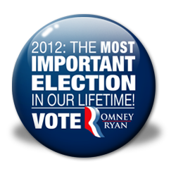 "Romney Campaign Button ""Most Important Election"""