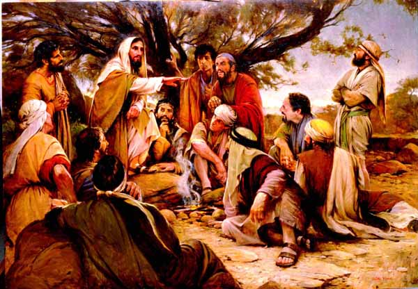 Jesus Talking to the Disciples