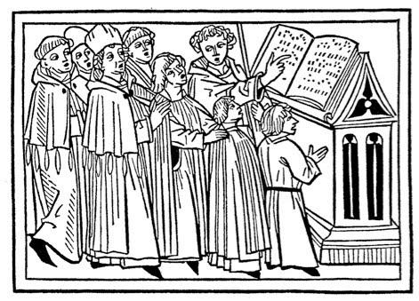Engraving of a Latin Schola