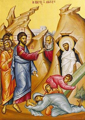 Orthodox Icon of the Raising of Lazarus