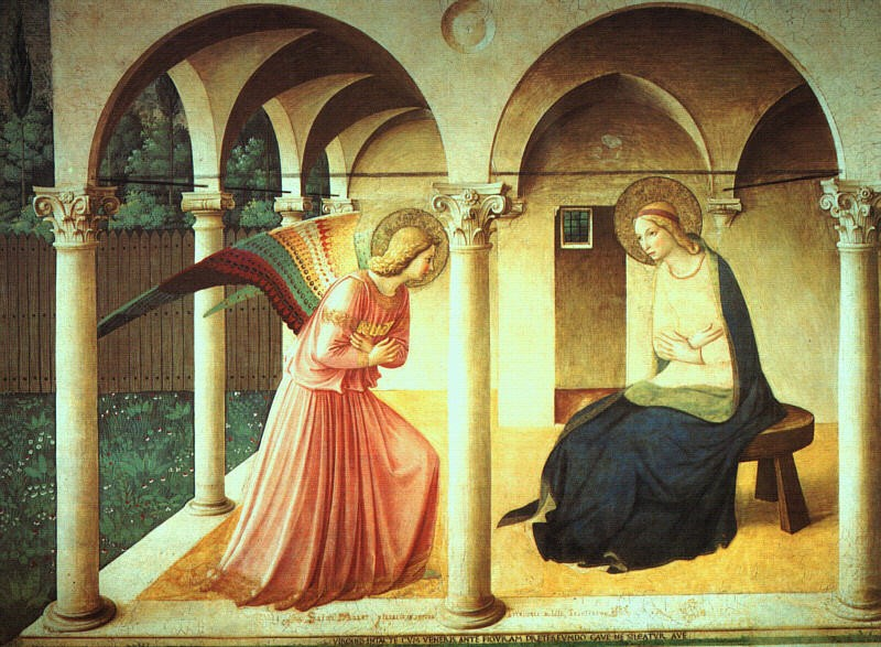 The Annunciation, fresco by Fra Angelico