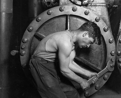 Laborer with Large Wrench