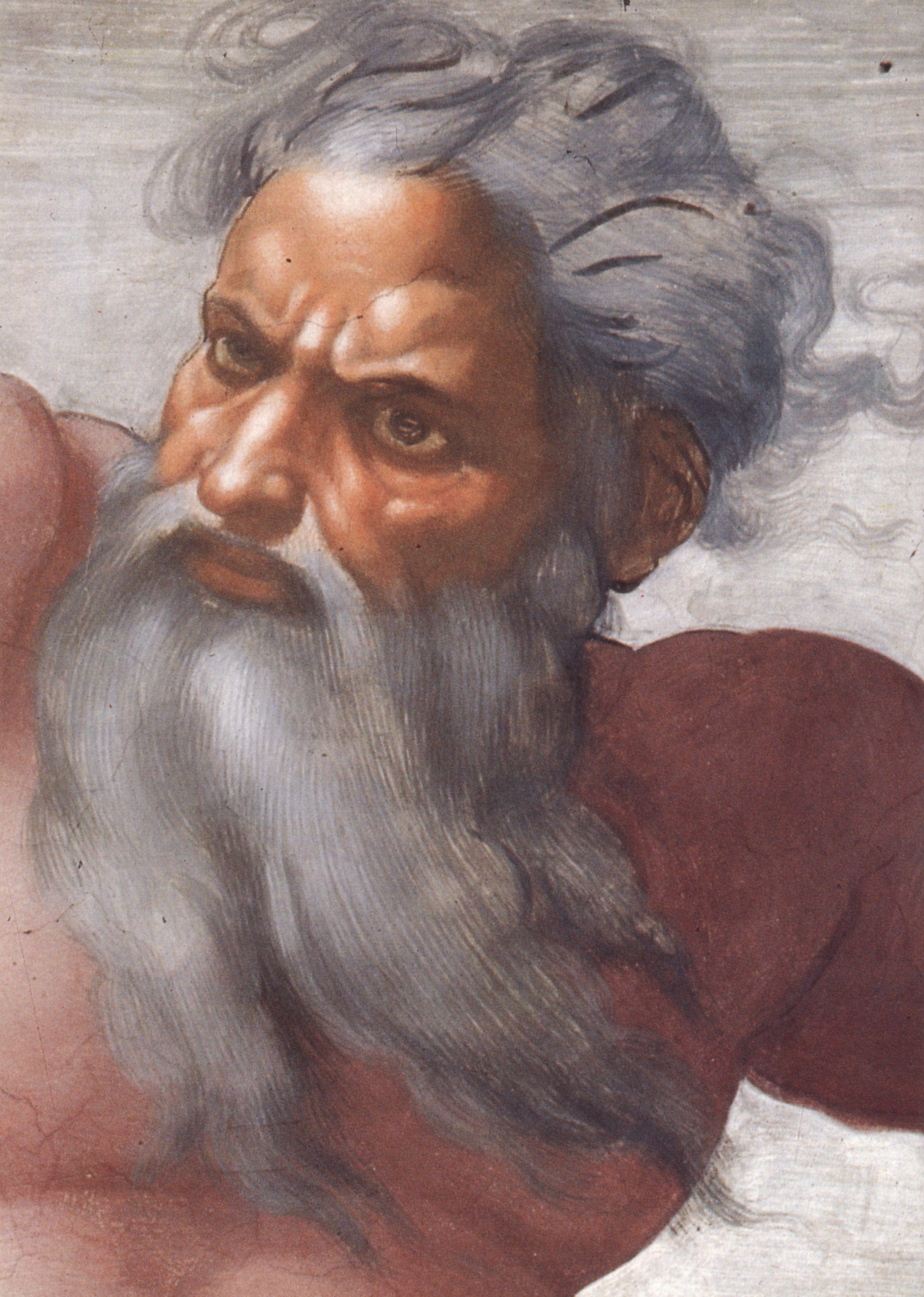 God as envisioned by Michelangelo