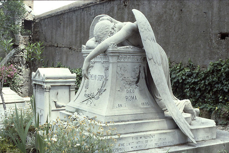 Angel of grief, a 1894 sculpture by William Wetmore Story