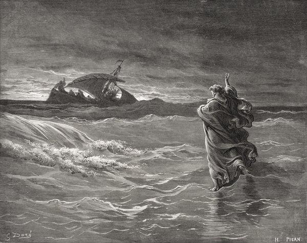 Gustav Dore, Jesus Walking on the Water (1866)