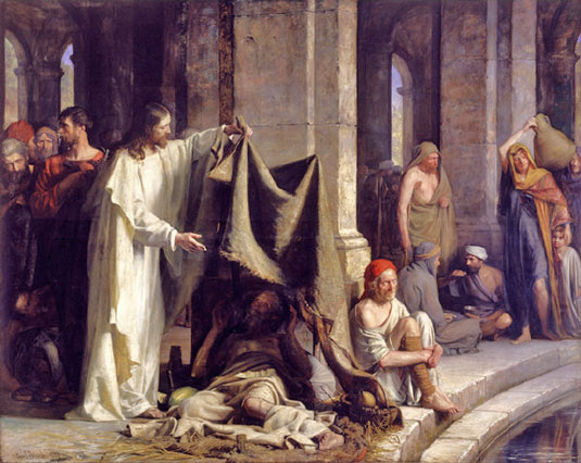 Christ at the Well of Bethesda by Carl Bloch