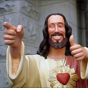 Buddy Jesus from the movie Dogma