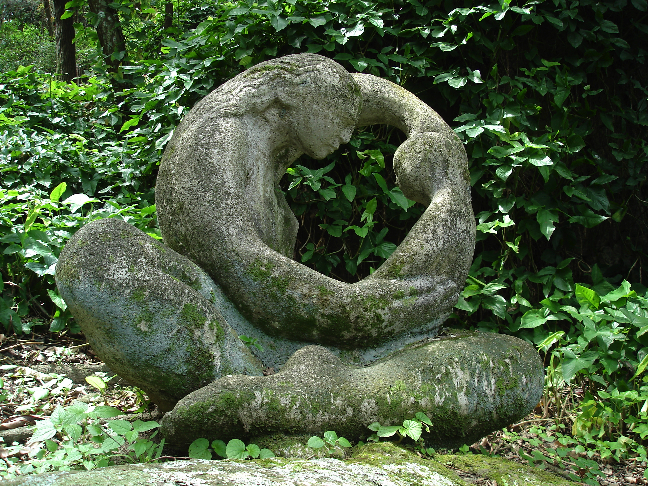 Stone Sculpture, Motherhood, Artist Unknown
