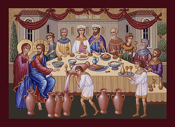 Icon of the Wedding Feast of Cana