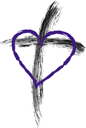 Sing of the Cross in Ashes on Purple Heart