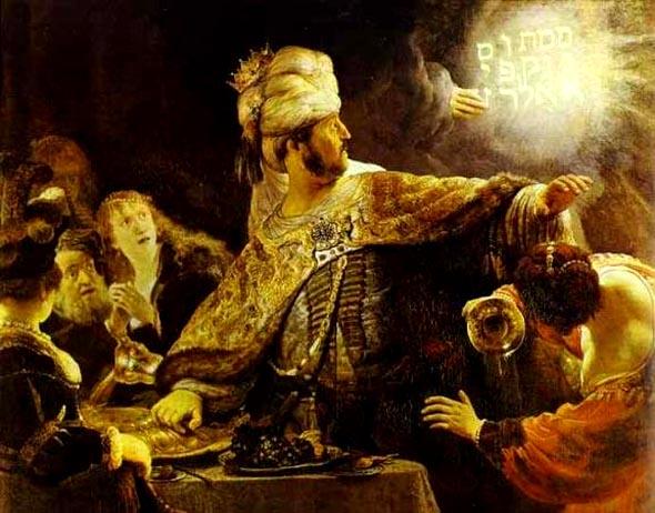 King Belshazzar