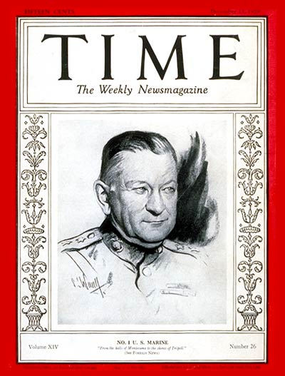 Time Magazine cover, December 23, 1929