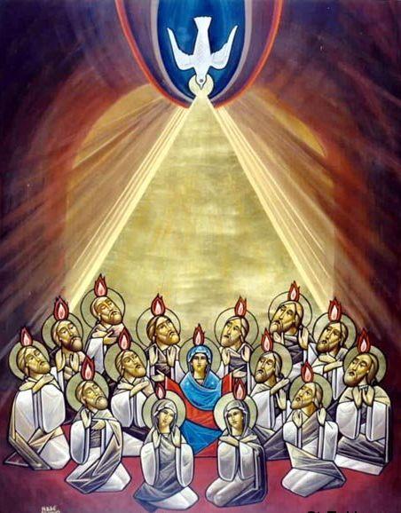 Coptic Icon of Pentecost