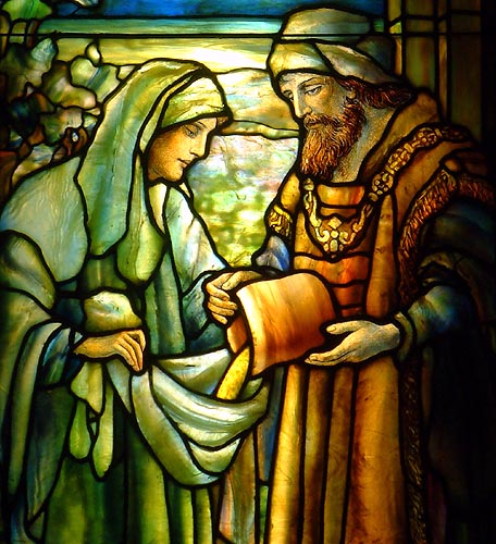 Stained Glass of Ruth and Boaz