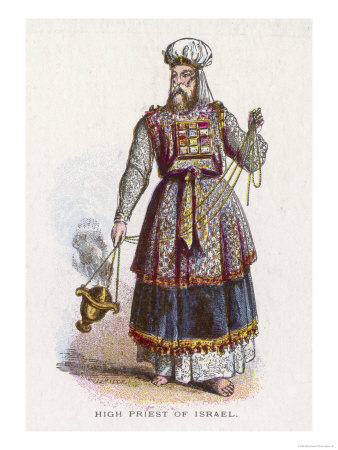 Jewish High Priest in His Ceremonial Vestments
