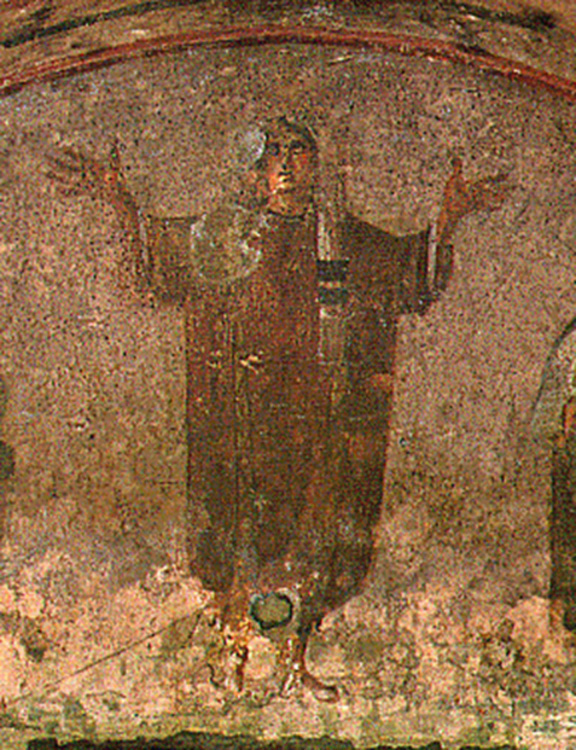 3rd Century Mural, Woman in Orans Position