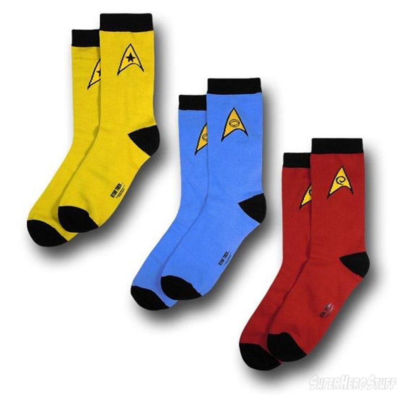 Star Trek Uniform Socks