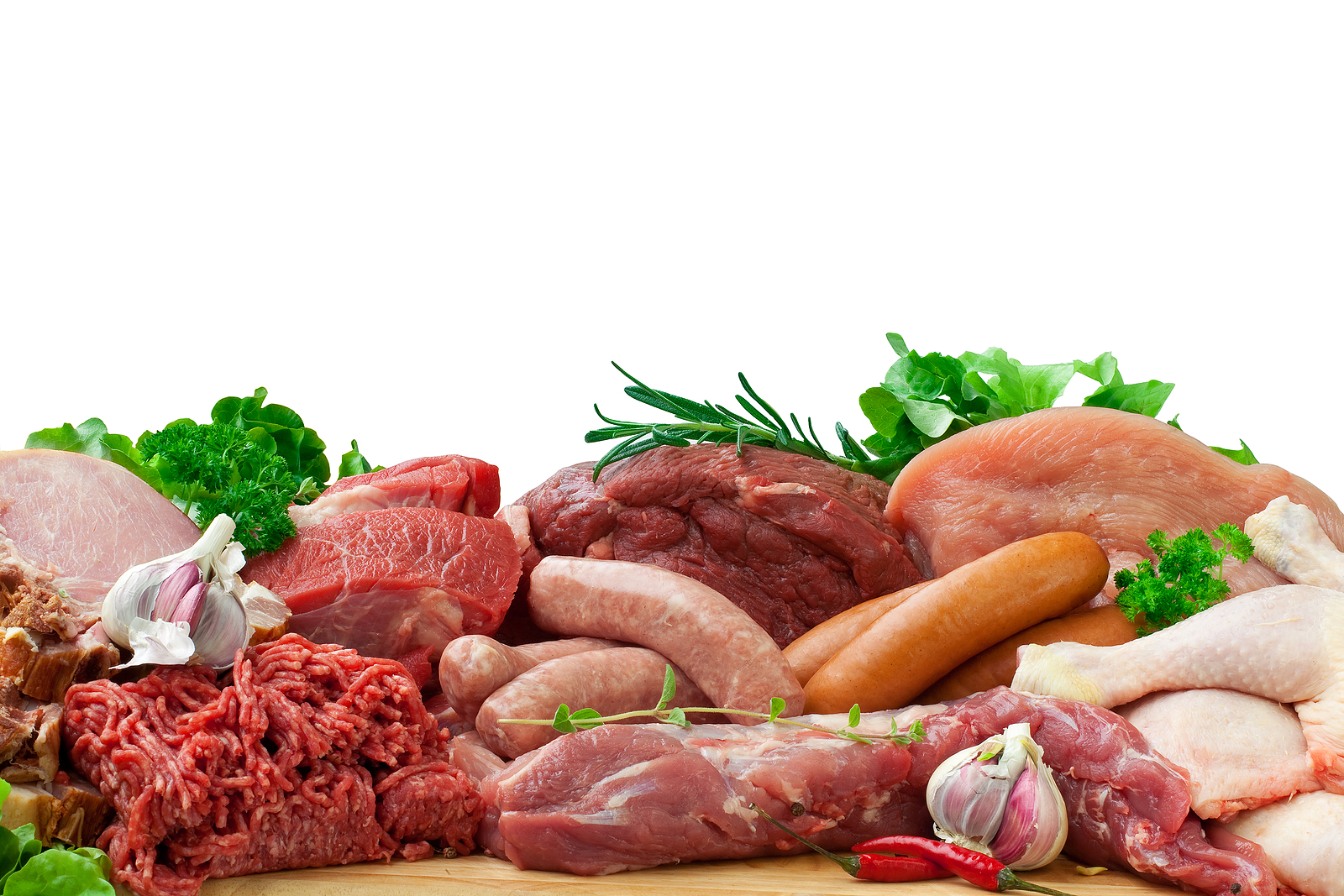 Selection of Raw Meats