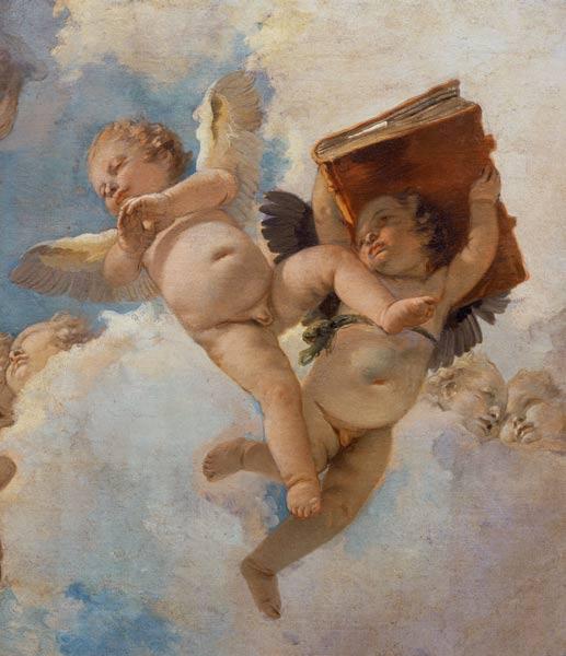 Putti with Book by Giovanni Battista Tiepolo, 1744
