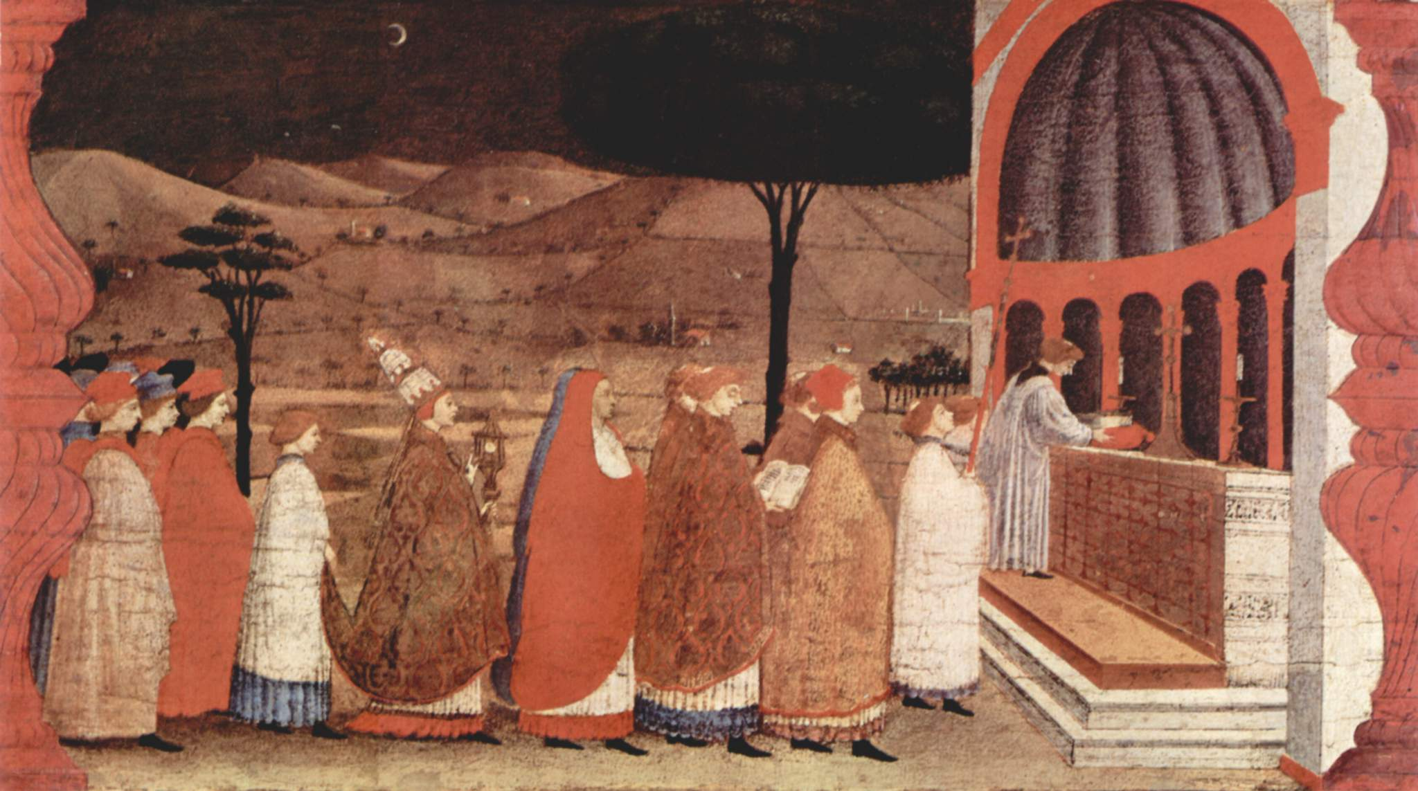 Procession of Re-ordained in a Church
