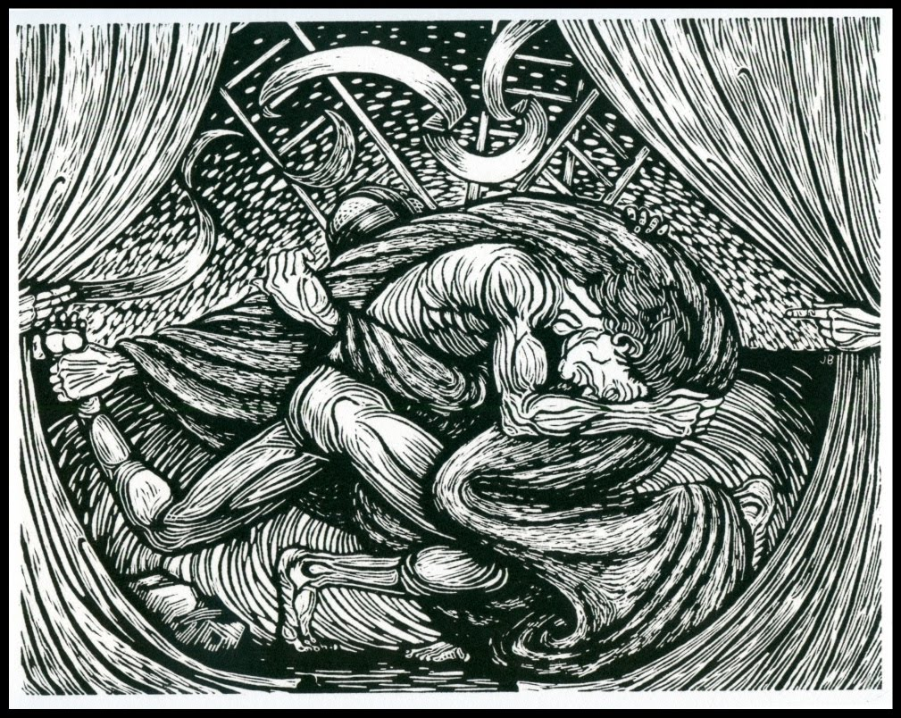 Jacob wrestling with the angel of God
